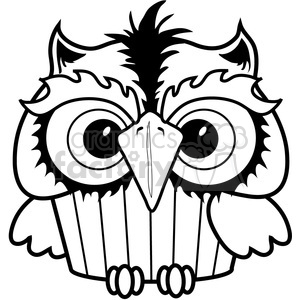 300x300 Royalty Free Cupcake Owl 387320 Vector Clip Art Image