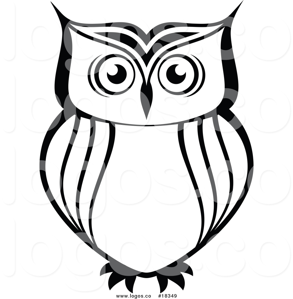 1024x1044 Royalty Free Vector Logo Of A Simple Black And White Owl By Vector