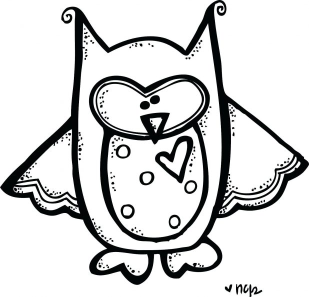 618x594 White Owl Clip Art Black And 94 Mesmerizing Cute Pictures To Color