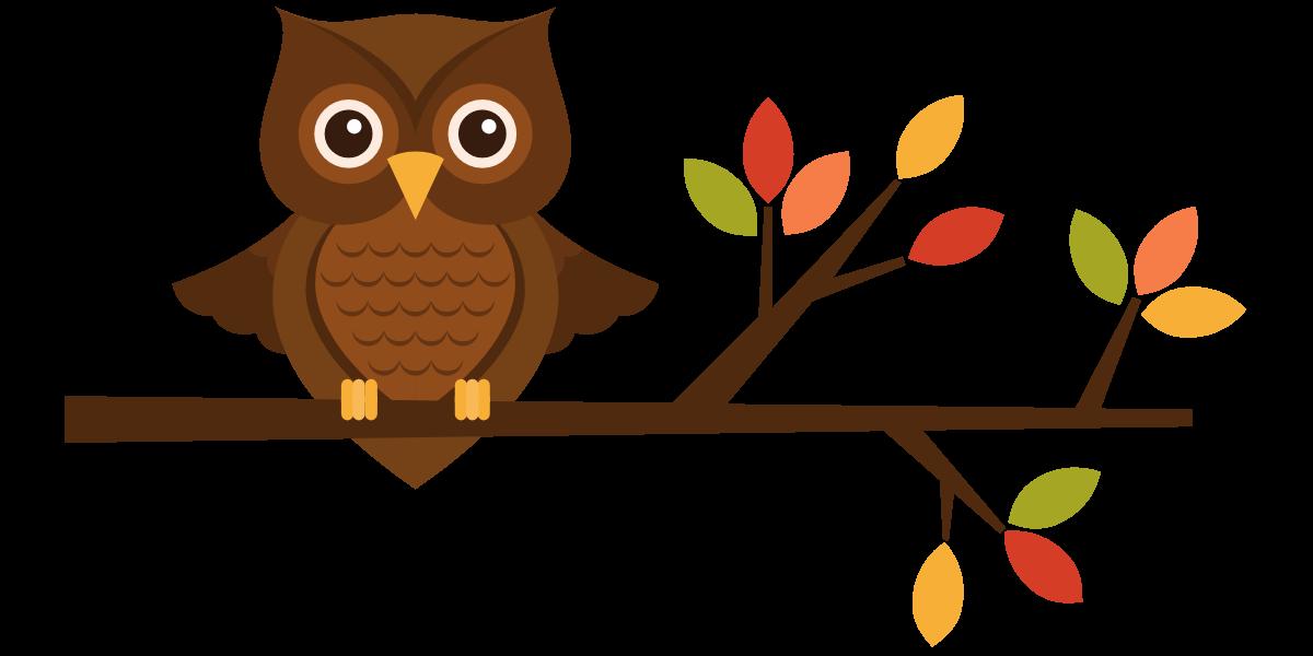 1200x600 Cute Fall Owl Clipart Kid
