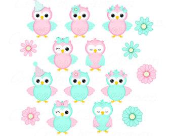 340x270 Cute Owls Clip Artpink Owls Borders Owls Scrapbook
