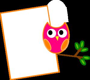 299x264 Orange Owl 2 Clip Art