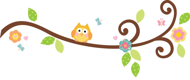 1500x630 Owl On Tree Branch Clip Art