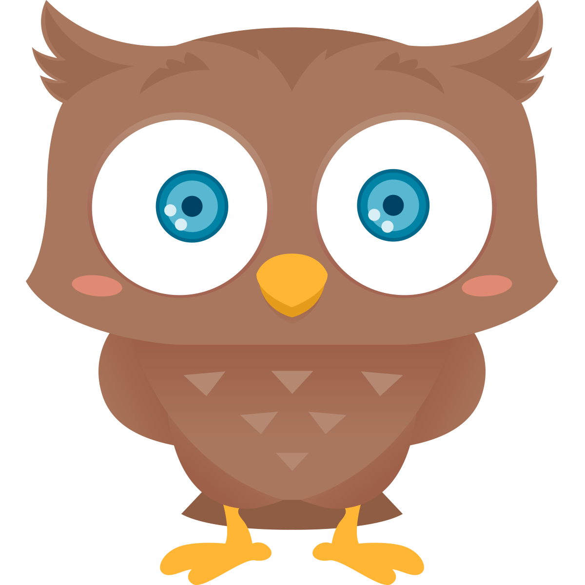 1200x1200 Clip Art Of Owl Free Cartoon Clipart By 6 Cliparti