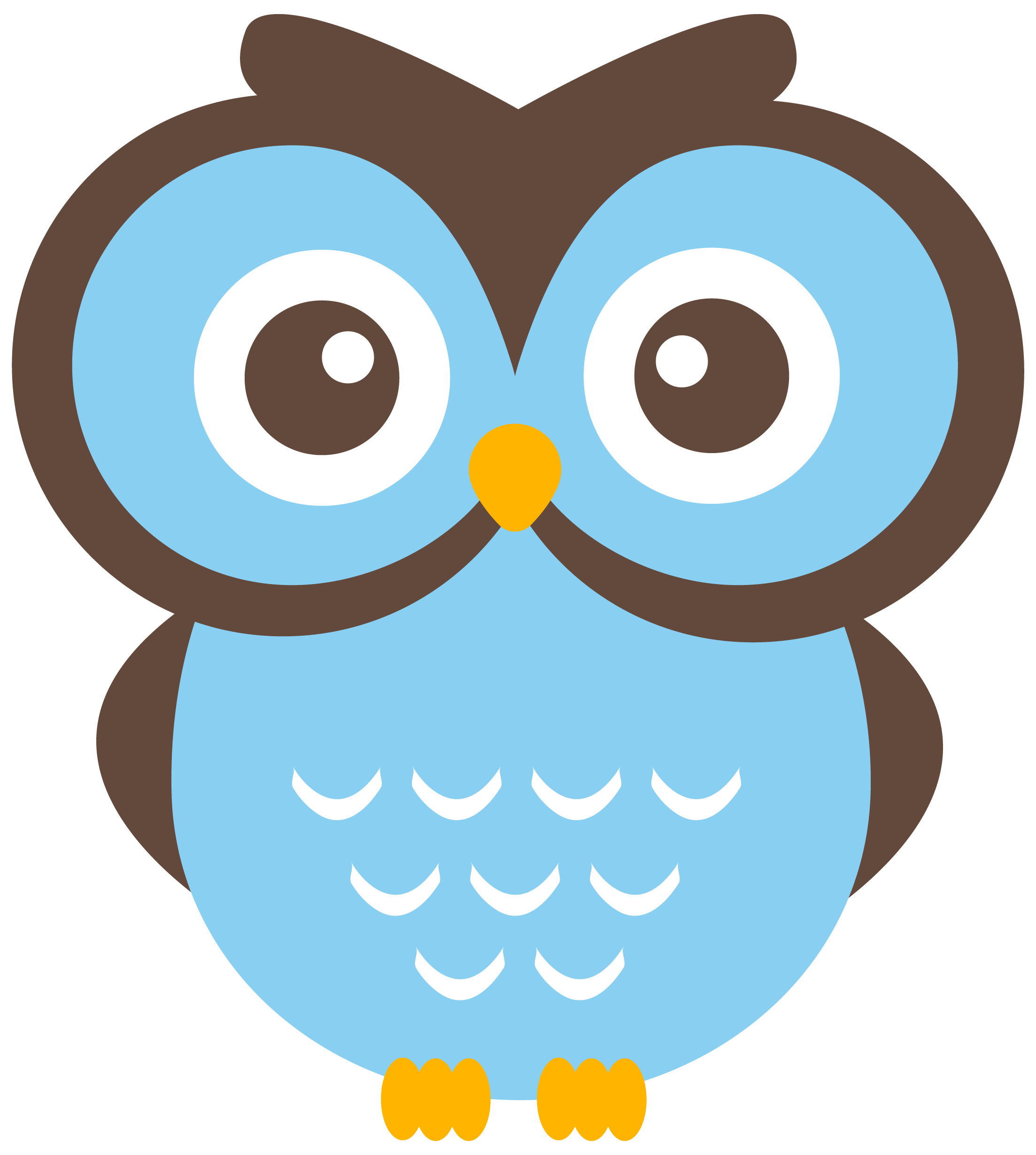 2206x2460 Cute Owl Clip Art