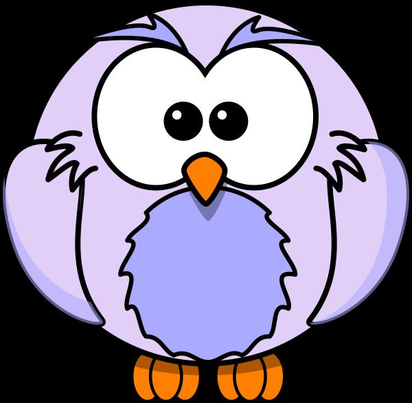 600x587 Light Purple Owl Cartoon Clip Art