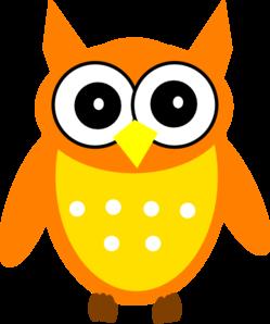 249x298 Orange Owl Clip Art