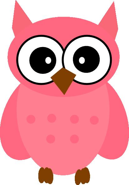 414x594 Owl Pink Clip Art