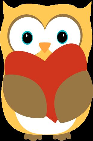 311x471 Owl With A Heart Clip Art