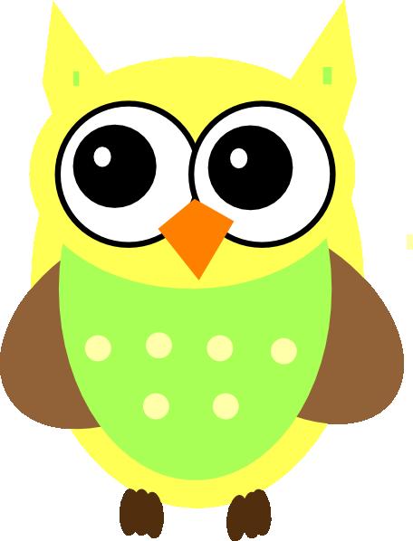 456x598 Yellow Baby Owl Clip Art