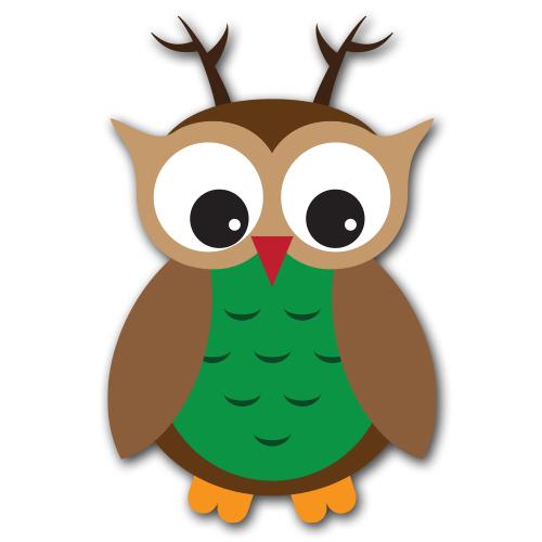 500x500 Cute Christmas Owl Clipart