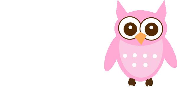 600x317 Cute Pink Owl Clip Art