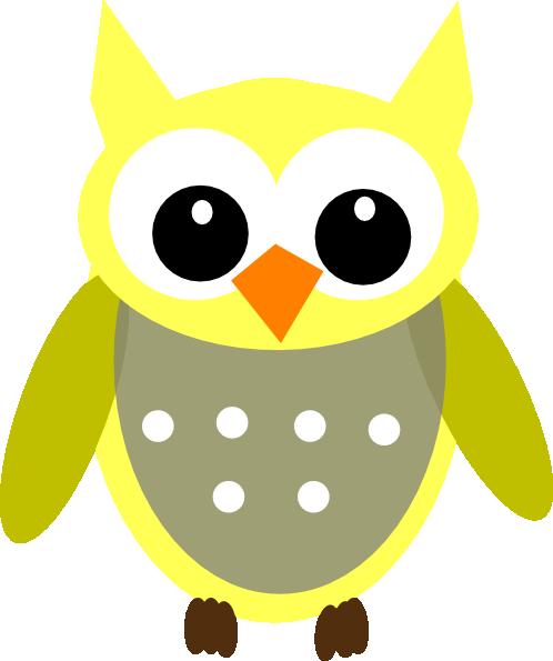 498x595 Cute Yellow Gray Owl Clip Art