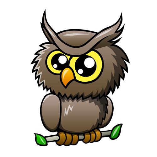 500x500 Owl Cartoon Png