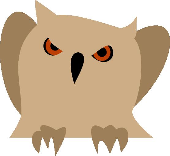 555x510 Owl Clipart