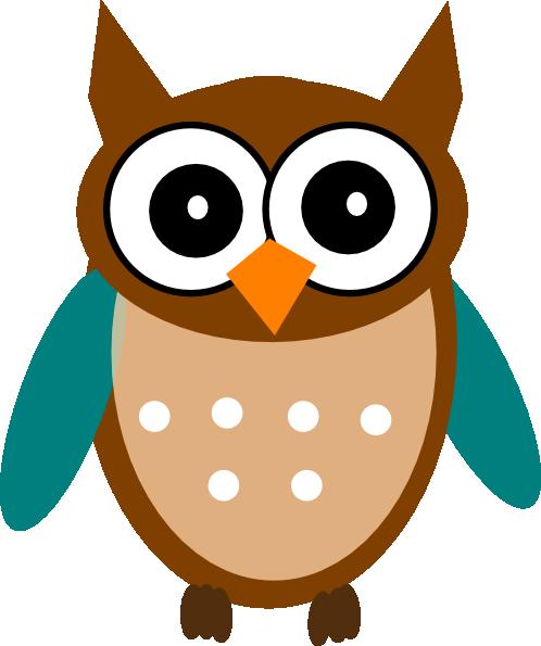 498x595 Owl Teal Brown Png, Svg Clip Art For Web