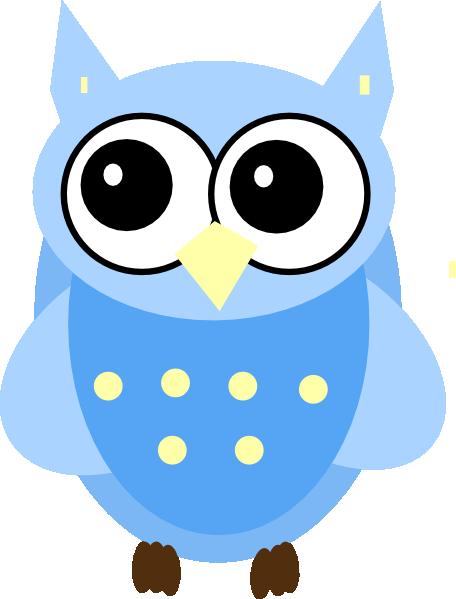 456x599 Blue Baby Owl Clip Art