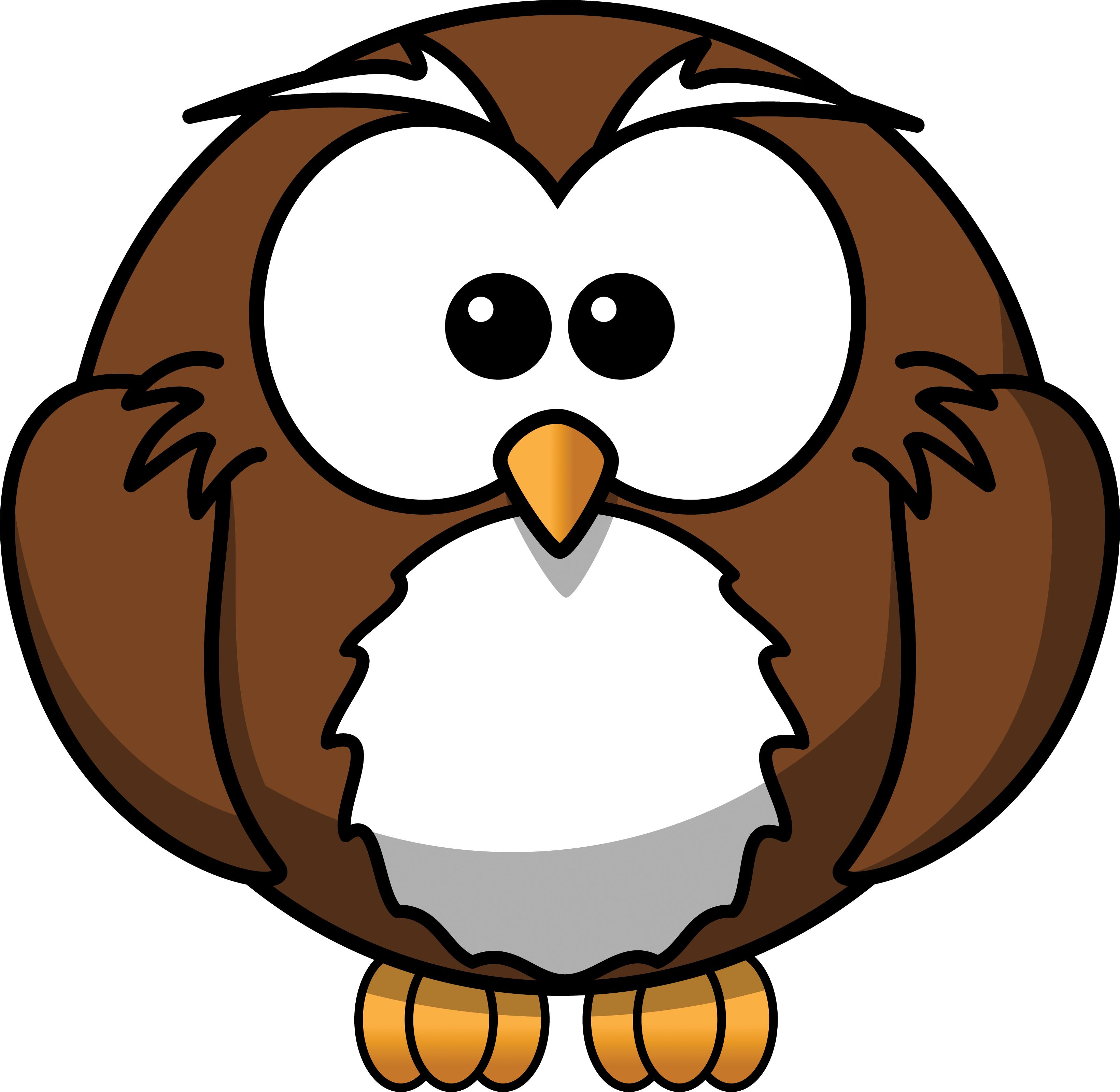 3281x3200 Owl Clip Art Free