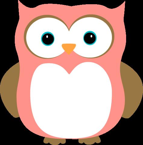 474x479 Pink Owl Clip Art