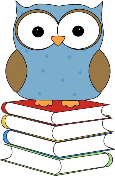 393x600 Polka Dot Owl Sitting On Books Clip Art
