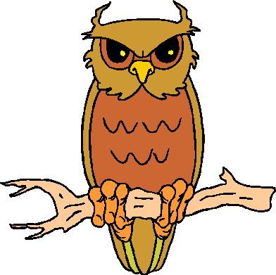 392x391 Owl Clip Art