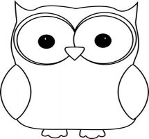 215x200 Black Amp White Clipart Owl