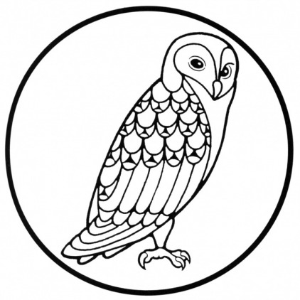 422x422 Free Owl Clipart Black And White Image