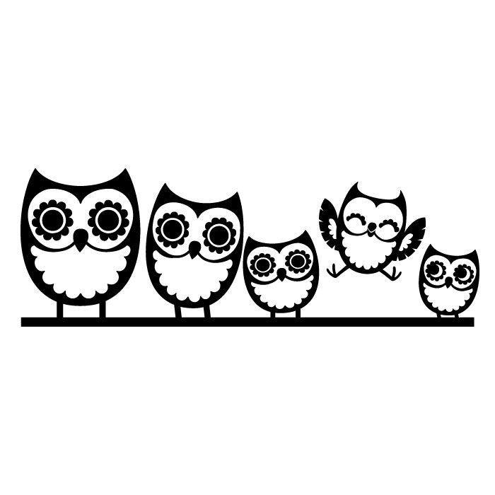 700x700 Graphics For Black And White Owl Graphics