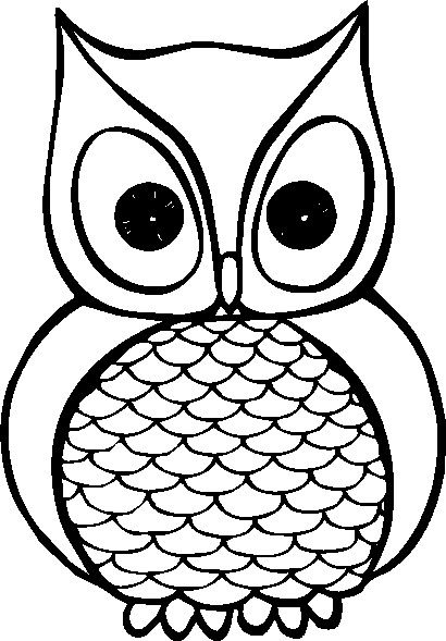 410x589 Image Of Owl Clipart Black And White