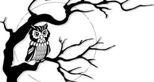 310x165 October Owl Clip Art