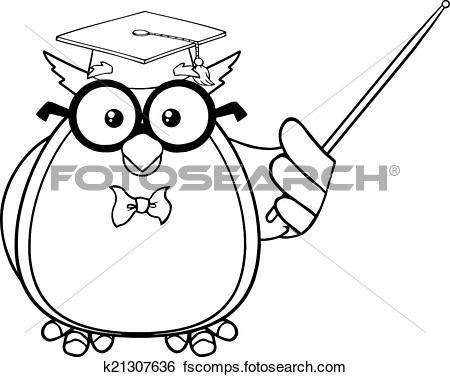450x377 Owl Teacher Clipart Black And White