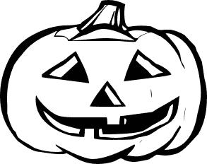 293x232 Pumpkin Clipart Black And White