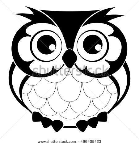 450x470 Sketch Clipart Owl