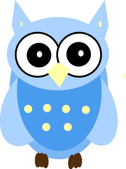 444x594 Blue Owl Clip Art