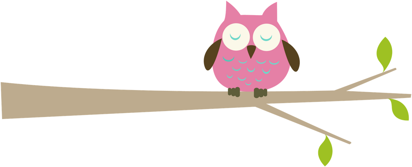 1600x651 Branch Clipart Pink Owl