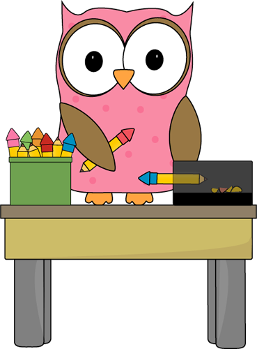 369x500 Owl Pencil Monitor Clip Art