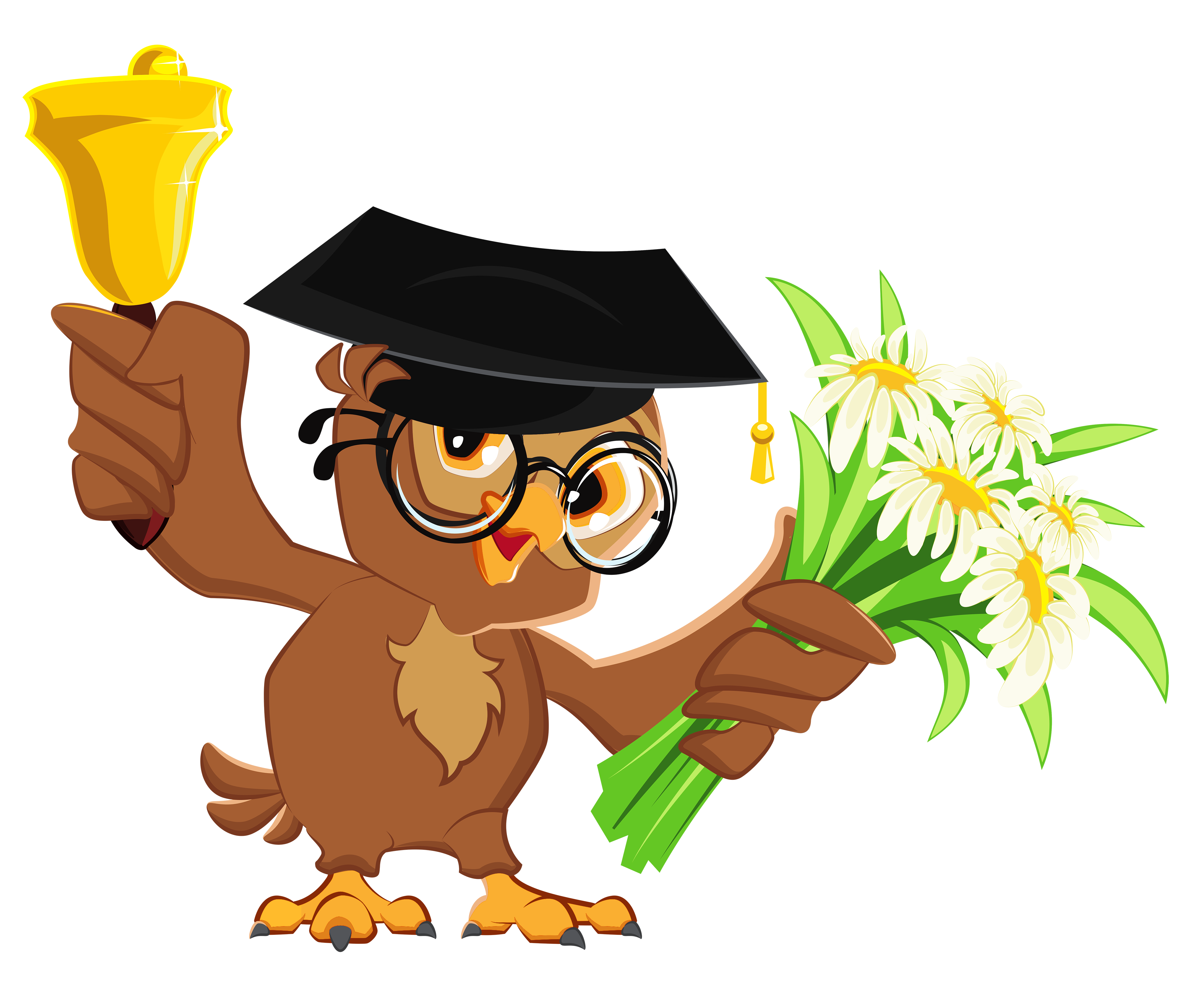 4076x3326 Owl With School Bell Png Clipart Pictureu200b Gallery Yopriceville