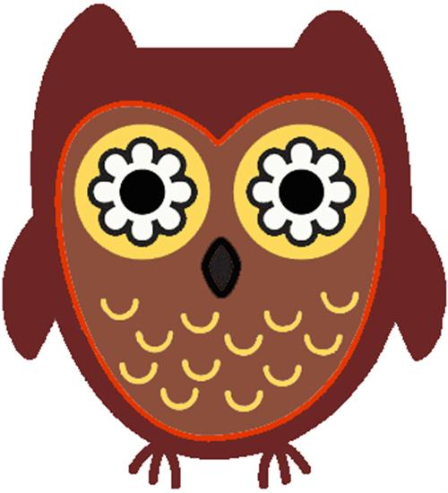 500x550 Smart Owl Clipart