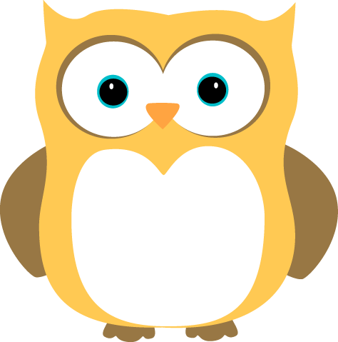 474x479 Yellow And Brown Owl Clip Art