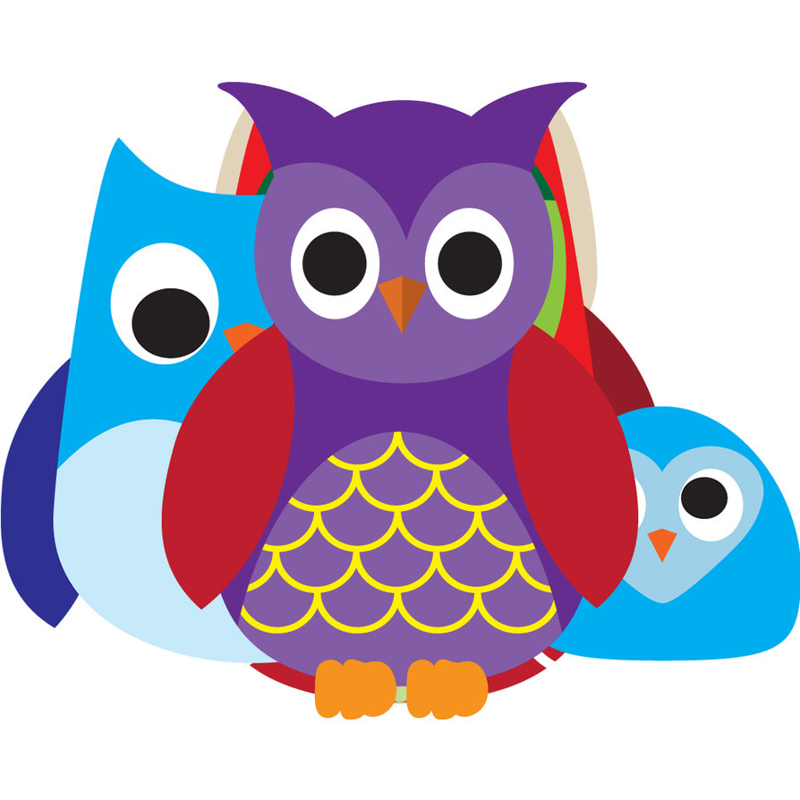 894x894 Free Colorful Owl Clipart Image