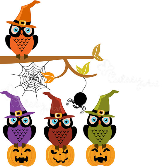 570x570 Halloween Owl Clipart Free