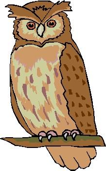 218x349 Owl Clipart