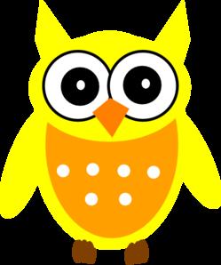 249x298 Yellow Owl Clip Art