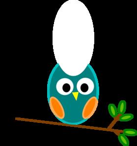 279x297 Blue And Orange Owl Clip Art