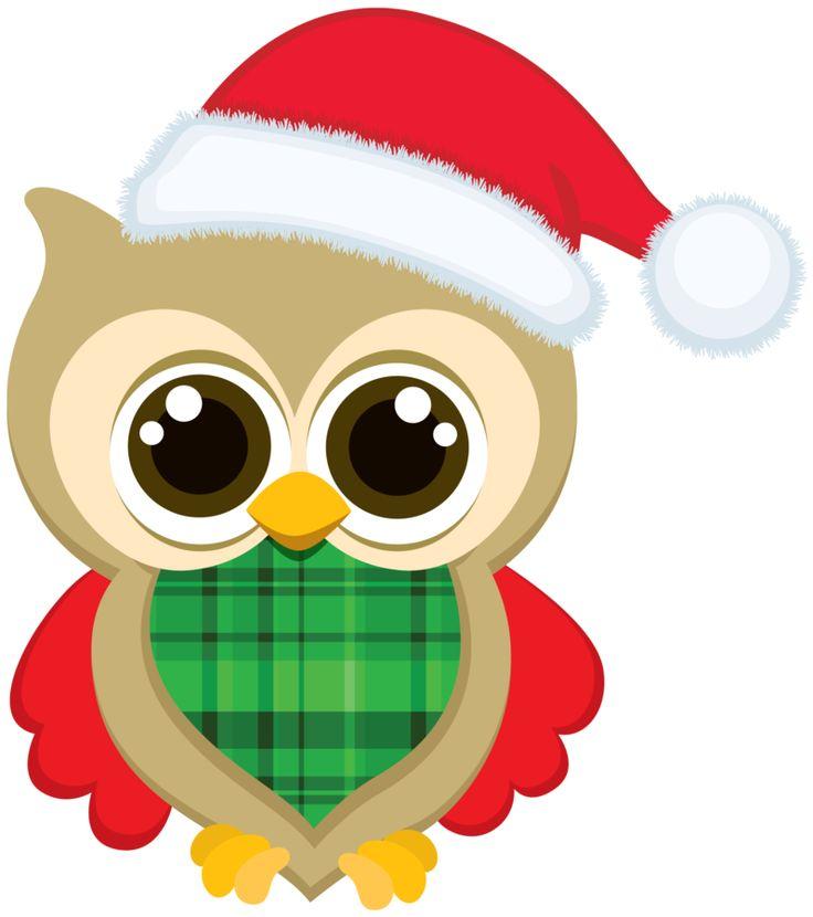 736x830 Christmas Owl Clip Art