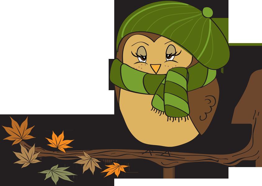 844x600 Christmas Owl Clip Art