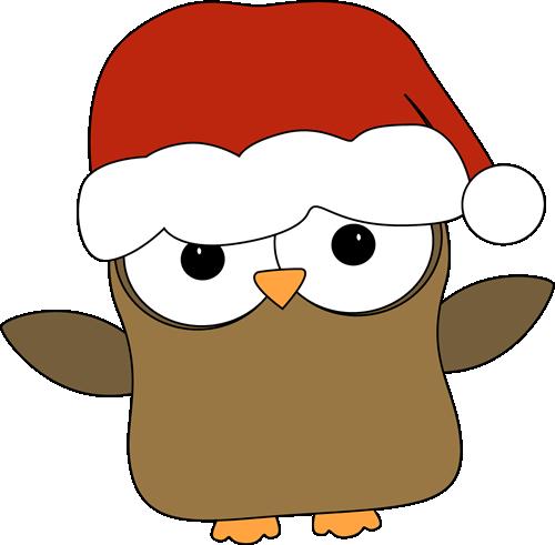 500x491 Cute Christmas Owl Clipart