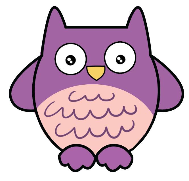666x635 Free Purple Owl Clip Art