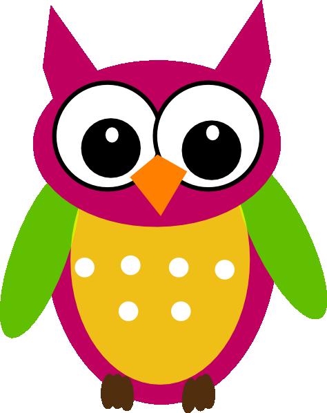 474x598 Purple Green Owl Clip Art