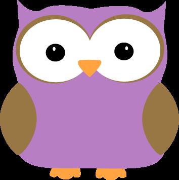 354x355 Purple Owl Clip Art